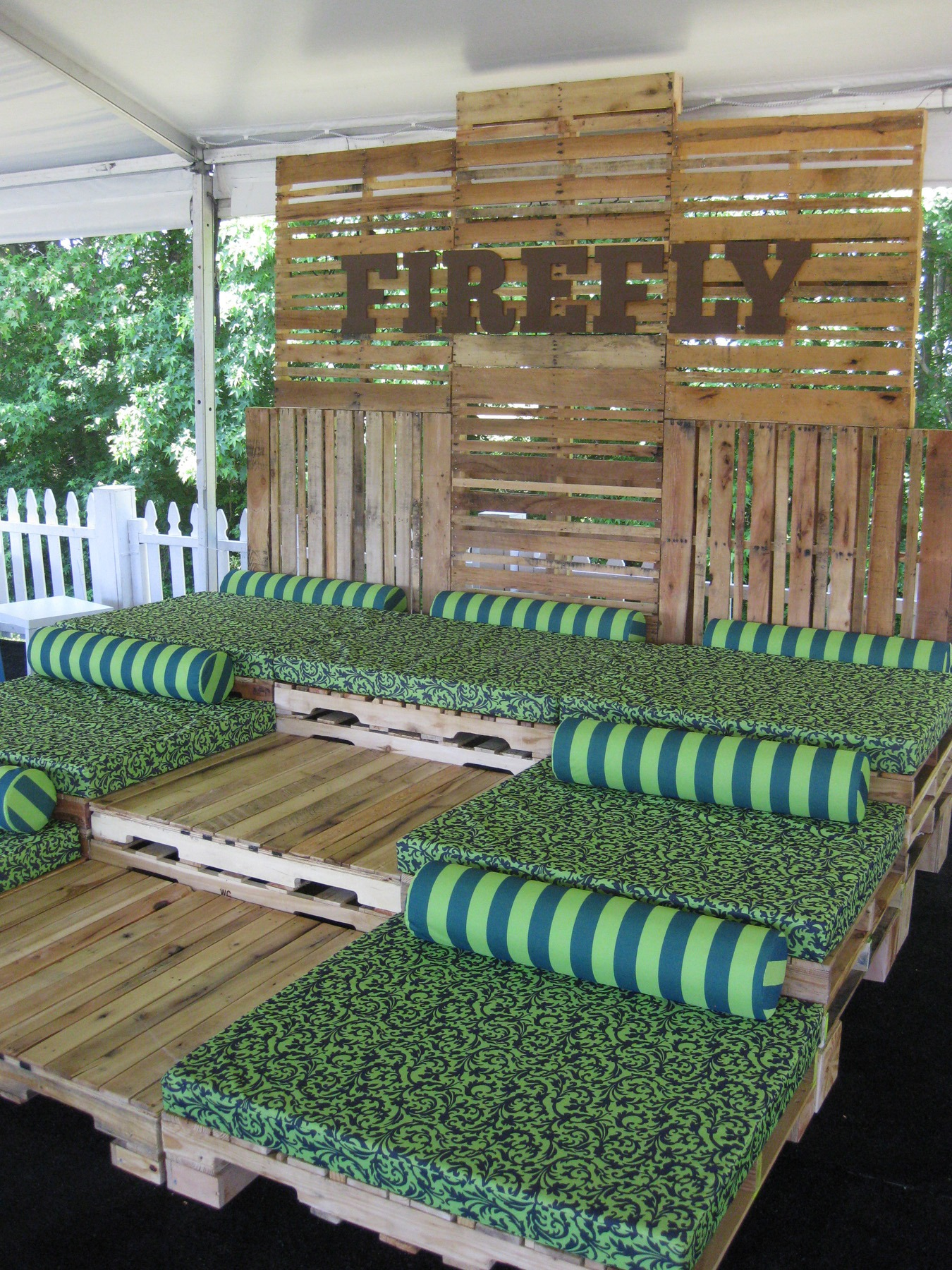 Firefly pallet seating on vip loft ivan carlson