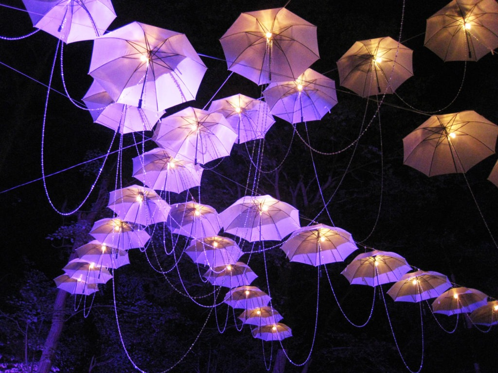 umbrellas at night 2-300