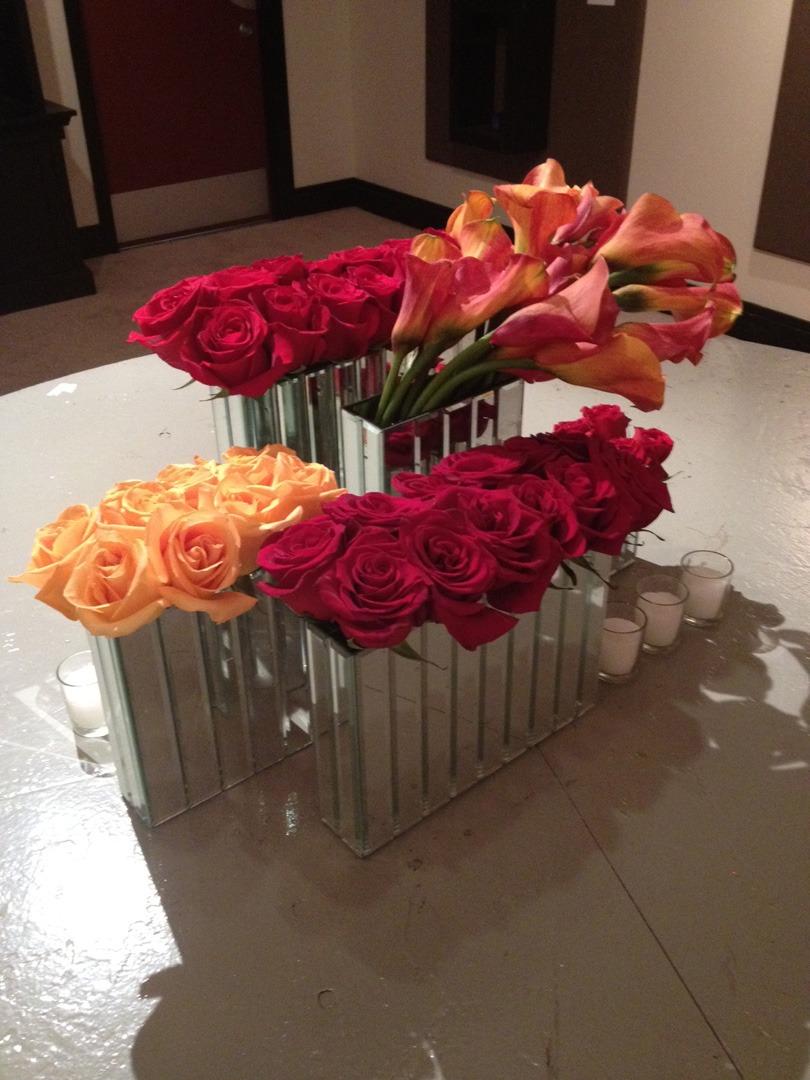 CTC highboy mirrored vase arrangement3