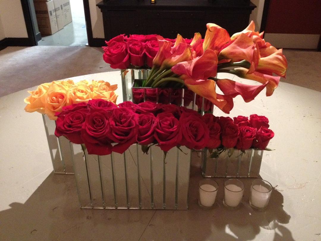 CTC highboy mirrored vase arrangement4