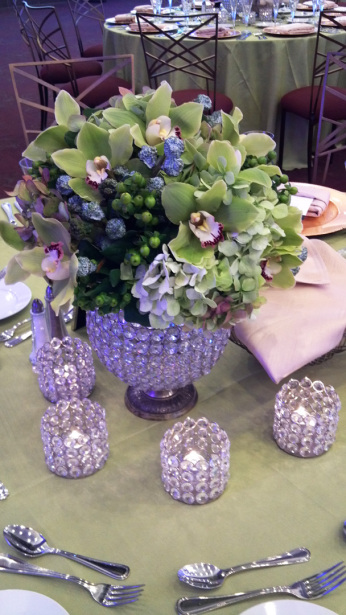 flowers & votives